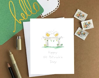 St. Patrick's Day Card/Happy St. Patrick's Day/Catholic Greeting Card/A2