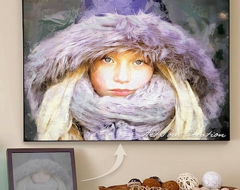 Christmas Gifts for Kids, Children, Grandchildren. Original Hand Made Portrait from Your Pics. Different Present Ideas - Big Christmas SALE