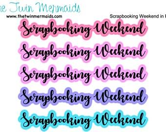 Scrapbooking Weekend in Pastel