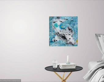 The peacefulness of Bambi, abstract painting, contemporary art, acrylic