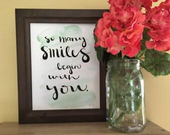 Baby Gift, Baby Shower Gift,  Nursery Art, Nursery Decor, Valentine Gift, Anniversary Gift, Birthday Gift, Handmade Art Print