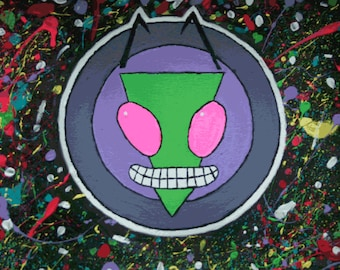 Invader Zim Stylised Painting Poster Print