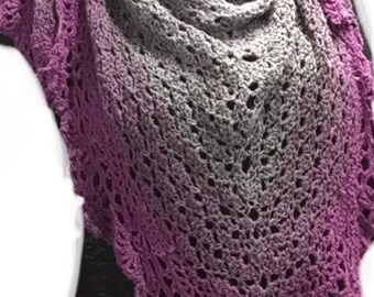 The ocean Vibe Shawl, spring summer shawl