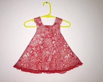 Baby Dress, A-line Dress, Cotton Dress, Pinafore Dress, Size 3-6 months, Infant Dress, Baby Pinafore,