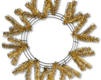 15 Inch Gold Metallic Deco Mesh Wreath XX749508, Poly Mesh Supplies, Deco Mesh Work Forms