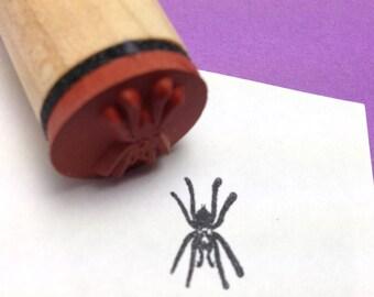 Scary Hairy Spider Rubber Stamp, Tarantula, Halloween