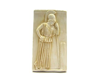 The Mourning pensive Goddess Athena relief copy from Acropolis Museum ,  Replica relief from Greek Museum