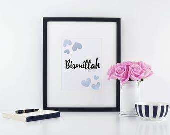 Bismillah. Islamic Wall Print.