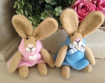 Beautiful Baby Bunnies - Needle Felted