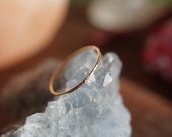 Wholesale - Handmade hammered stackable ring - 14k Gold FIlled / Sterling Silver