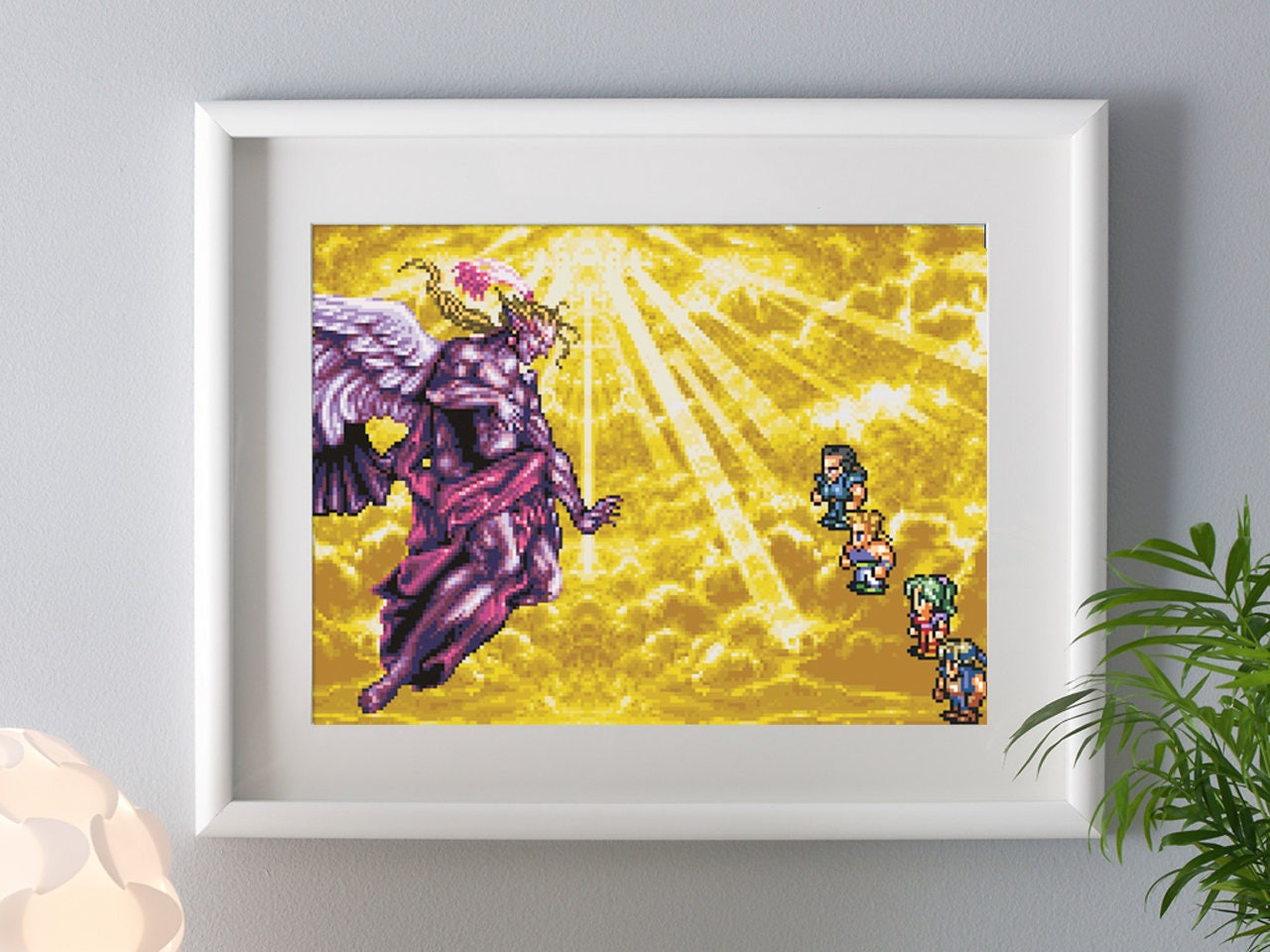 Final Fantasy 6 Print Kefka SNES Artprint Pixelart Final