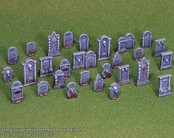 TOMBSTONES (Set of 30)