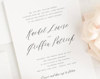 Rachel Wedding Invitations - Sample