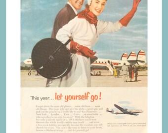 TWA Ad - 1953 Vintage Magazine Advertisement