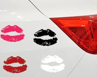 Lip Car Decals - assorted Colors