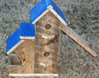 Birdhouse & Birdfeeder Condo  BUILT TO ORDER (Large Birdhouse)