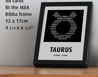 Taurus. Such a nice card, you'd want to frame it!