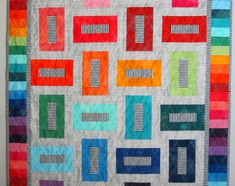 CROSSWALK a Jelly Roll/Layer Cake Friendly Quilt Pattern from Quilts by Elena