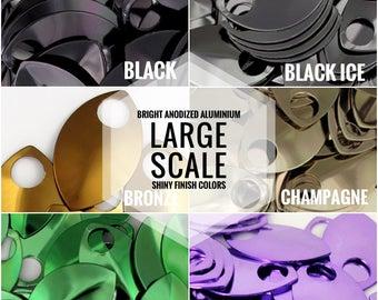 LARGE Scales - beautiful SHINY finish COLORS Aluminum Scales
