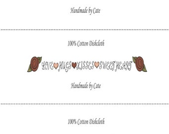 Hearts 2 Dishcloths/Washcloths Wrappers - PDF FILE ONLY