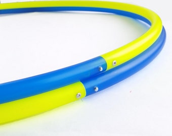 """Multi Toned Polypro or HDPE Hula Hoop 3/4""""or 5/8"""" Chose up to 6 colors- Over 40 Colors to Choose From"""
