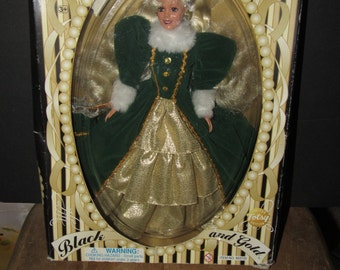 Totsy Limited Edition Black & Gold Sandi Doll MIB (RARE) 90's
