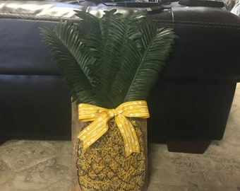 Pineapple string art. Created using a log section.