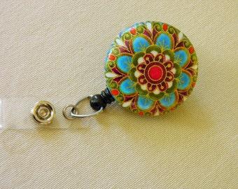 Floral Badge Holder, ID Holder