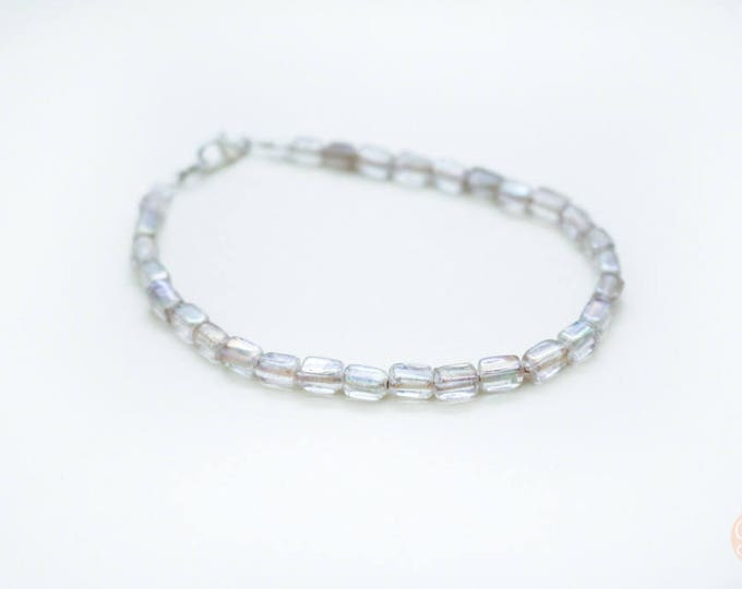 Clear Basic Beaded Anklet.