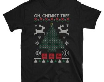 Oh Chemist Tree Christmas Chemistry T-Shirt