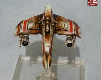 X wing, 1 E Wing, Vaisseau Star Wars, pro painting.