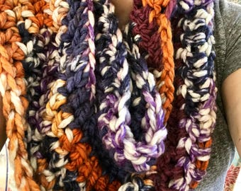 Colorful Winter Infinity Scarf