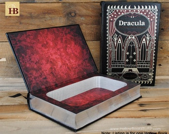 Book Safe - Dracula and other Horror Classics - Leather Bound Hollow Book Safe