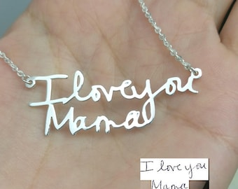 Handwritten Necklace, Handwriting Necklace, Handwriting Jewelry, Handwritten Jewelry, Memorial Signature, Personalized Gifts For Women