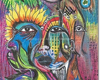 Many Faces Art Brut Life Story Original Art as Poetry
