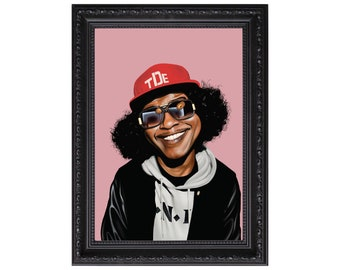 Ab-Soul Caricature Poster or Art Print