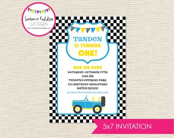 Jeep Birthday Invitation, Off Road Party Invitation, Jeep Birthday, Jeep Printables, Jeep Birthday Decorations, Lauren Haddox Designs