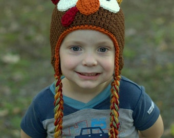 Turkey Hat, Crochet Turkey Hat, Thanksgiving Hat, Turkey Beanie Hat, Turkey Hat Beanie, Turkey Hat Prop, Crochet Turkey, Thanksgiving Baby