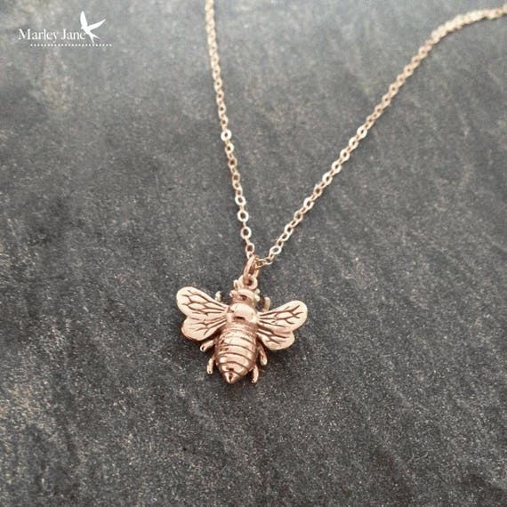 jewelry necklace sweet gold deal bumblebee tiny shop mytinystarshining bee honeybee on bumble etsy rose
