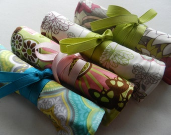 Custom Made Bridesmaids Bundle Set of 4 Travel Jewelry Rolls