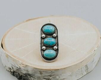 3 stone turquoise ring