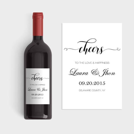 Wedding Wine Labels Wedding Wine Label Template Cheers Wine