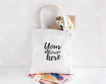 Canvas tote bag mockup / Styled stock photography / Instant download / #7001