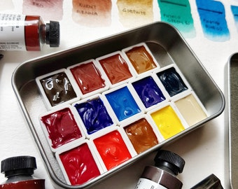 Jane Blundell's Daniel Smith Watercolour Ultimate Mixing Palette - 15 Half Pans Custom Starter Beginners Set