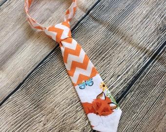 Fox Tie, Fox Necktie, Baby Tie, Baby Necktie, Toddler Necktie, Tie, Necktie, Toddler Tie