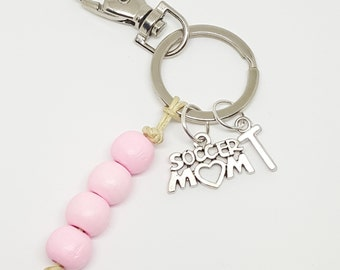 Personalized Soccer Mom Keychain