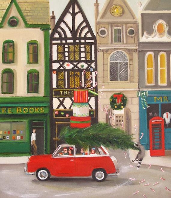 The Peppermint Family Spread A Little Christmas Cheer.  Art Print.
