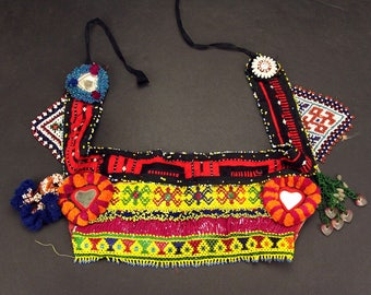 Afghan Tribal Bellydance Dangles BELT Turkoman 868g1