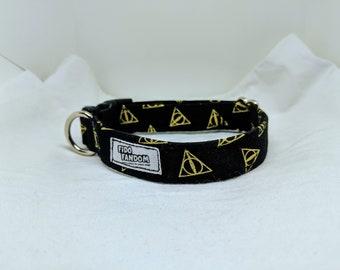 Deathly Hallows - Custom Handmade Dog Collar, Harry Potter, HP, Wizard, Magic, Multiple Options