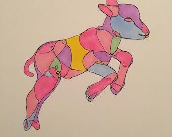 Baby Lamb Drawing